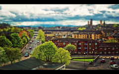 Sunshine on Leith (isayx3) Tags: city buildings 50mm nikon post glasgow f14 365 nikkor process tiltshift firdays sunshineonleith theproclaimers f14g plainjoe d700 ppfridays shawniam shawnleishman