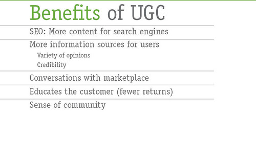 User Generated Content Benefits