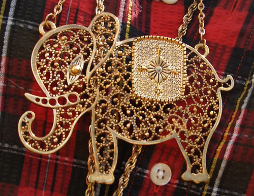 Detail: elephant necklace
