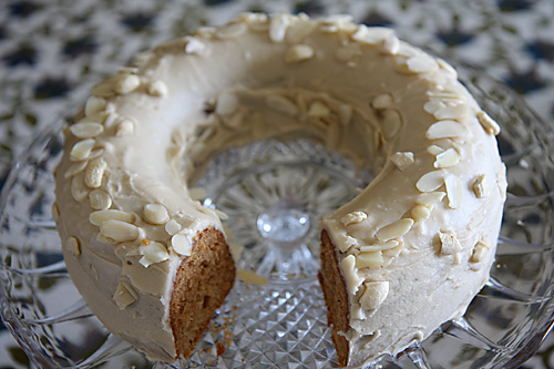 Eggless Vanilla Bean Cake With Butterscotch Frosting