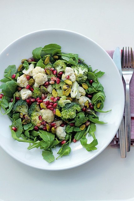 Cauliflower, Broccoli and Pomegranate