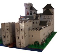 Calgatheen Castle (Tastymuffins) Tags: castle window glass lego towers stained huge knight moat realistic gatehouse calgatheen