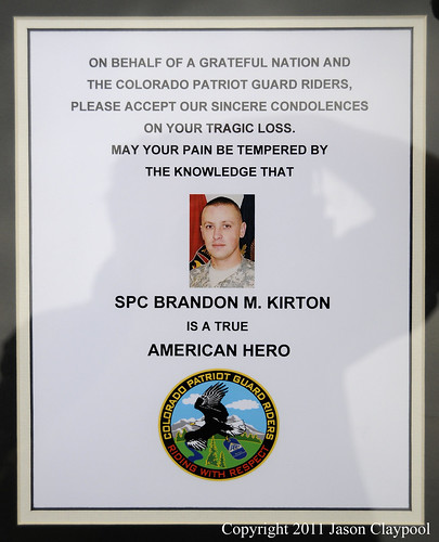 KIA Cpl. Brandon Kirton, Denver, CO 060311, A Patriot