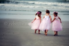 Best Friends Forever (Rebecca812) Tags: ocean family friends vacation love beach girl beautiful kids fairytale children togetherness sand ribbons soft waves child princess sweet daughter atlantic holdinghands pigtails nieces lookingback bonding littlegirls pinkdresses canon5dmarkii rebecca812 gettyimagesportraits heritage2011