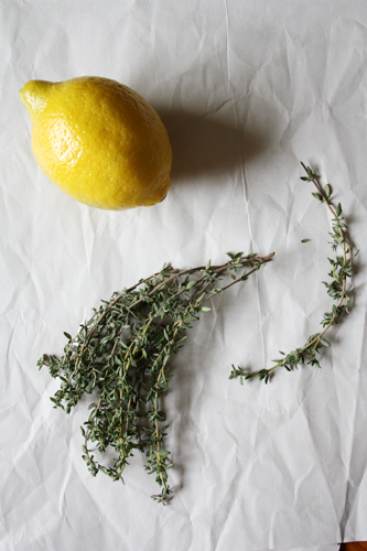 lemon + thyme.
