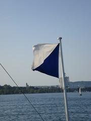 Flag of Zurich (Christine Amherd) Tags: city creativity see cosmopolitan sommer ine zrich schiff weltstadt passionate   mypassion  grossstadt  christinescreativityphotography christinesphotography
