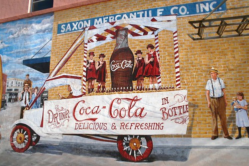 coca-cola detail on lufkin history mural
