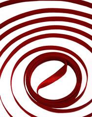 Orbit (Voiceless eyes) Tags: red abstract circle redribbon redwhite loop ribbon looping orbit whitered redcircles