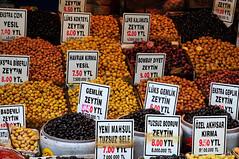 olives at Istanbul market (luca.gargano) Tags: voyage travel turkey market istanbul olives exploration viaggio gargano lucagargano
