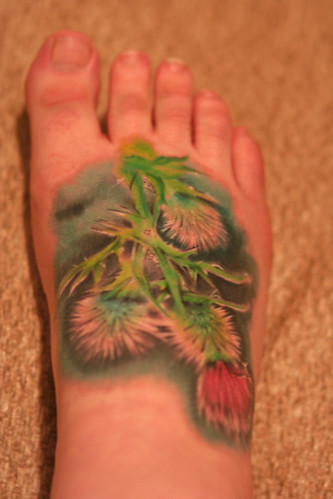 tattoo. thistle