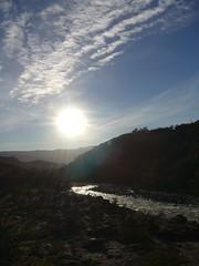 Fitz Roy - trek - riviere - ciel - soleil