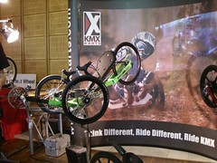 At the KMX Karts' booth