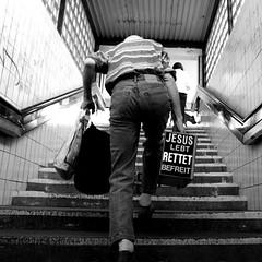 jesus (memothek) Tags: berlin stairs jesus