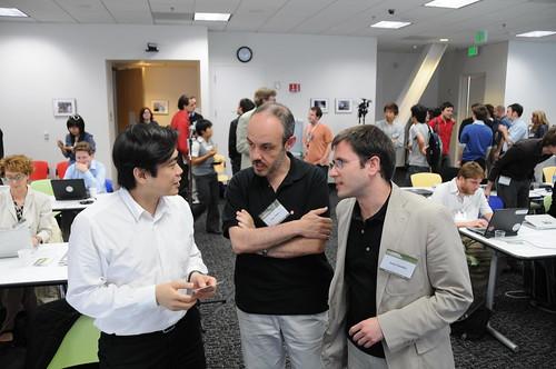 Joi Ito, Juan Palacio and Javier Prenafeta