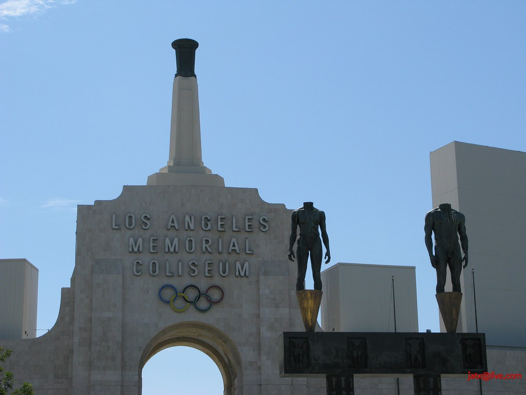 The Los Angeles Memorial Coliseum South LA Exposition Park Rose Garden