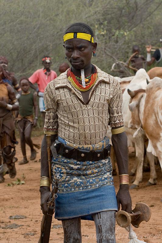 Warrior, Hamer Bull Jumping Ceremony, Ethiopia, November 2007
