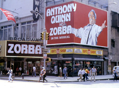 Anthony Quinn is ZORBA... (poly_mnia) Tags: street newyorkcity people music usa ny newyork man color colour men art colors us theater colours angle theatre manhattan broadway angles olympus om10 musical zorba anthonyquinn dearflickrfriend zorbathemusical oympusom10