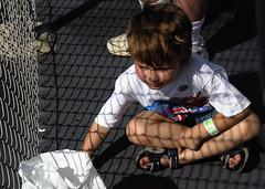 young NASCAR fan (haglundc) Tags: fence fan kentucky young pit nascar 300 oreo meijer speedway