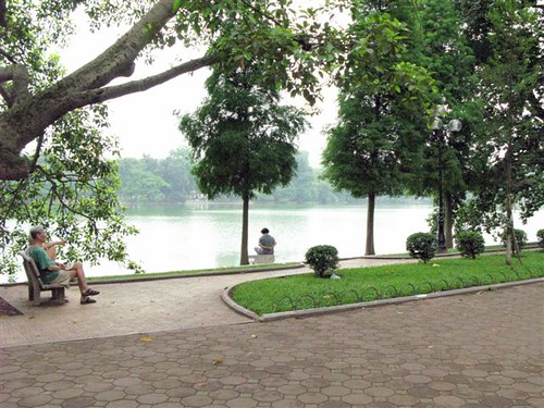 contemplation at Hoan Kiem Lake