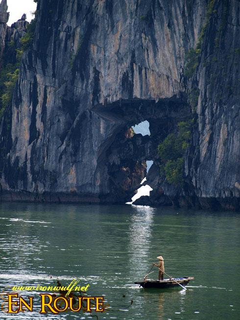 Ha Long Bay Karst Hole view