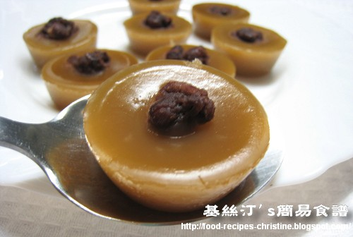 Steamed Rice Cup Cake with Red Beans 缽仔糕01