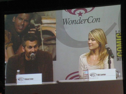 oded fehr wallpaper.  Oded Fehr and Ali Larter at WonderCon 2007