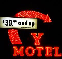 Y Motel (Phydeaux460) Tags: sign neon motel idaho blackfootidaho