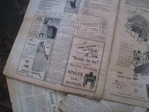 Book for Brides: Singer Ad