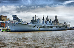 HMS Ark Royal (jimps123) Tags: city england church port liverpool docks river boats army boat dock focus ship waterfront minolta sony ships navy culture royal best m42 british dynax alpha dslr 2008 liver liverbird nicks 28135mm mersey forces graces armed merseyside liverbuildings 3graces a700 liverppol