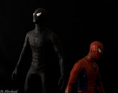 Good Spidey, Bad Spidey (Mishari Al-Reshaid Photography) Tags: red black standing canon dark eos flash spiderman spidey kuwait marvel canoneos marvelcomics q8 24105 canonef24105f4l gtm canoncamera canoneflens imagestabilizer spiderman3 q80 canonllens jfigure 40d mishari spidermanmovie canonef24105f4lis kuwaitphoto kuwaitphotos 580exii canoneos40d darkspiderman canon40d kvwc kuwaitartphoto gtmq8 kuwaitart spidermanblack kuwaitvoluntaryworkcenter kuwaitvwc grendizer99 blacksuitspiderman canon580exiiflash kuwaitphotography grendizer99photos misharialreshaid canonspiderman spideymanactionfigure malreshaid misharyalrasheed