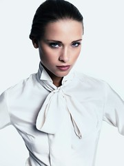 White__spotshow108 (tuxedoDE) Tags: blouse tieneck