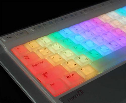 teclado multicolor
