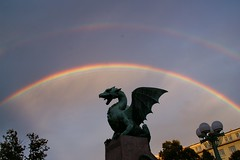 Ljubljana: Rainbow at Dragon Bridge (Lucio José Martínez González) Tags: travel viaje arcoiris geotagged rainbow escultura slovenia ljubljana eslovenia smörgåsbord helluva scilpture luciojosémartínezgonzález luciojosemartinezgonzalez globalbackpackers geo:lat=460530583333328 geo:lon=145106955555578