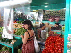 Tracy at the market