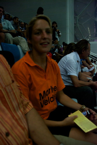 Heres our new Dutch Best Friend. Her sister is Marleen Veldhuis, one of the womens swimmers to watch.
