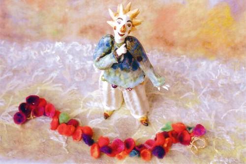 ■ こがねいろの風 ■ 陶人形とウールワーク