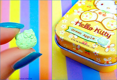 Taste Me ! (Cherie) Tags: hello pink blue orange macro green apple colors yellow purple nail kitty polish sanrio nails manicure cherie mints noonah cheriee