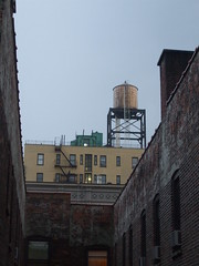 view of the water tower (katasharya) Tags: city newyork nighttime 2008 cityscenes
