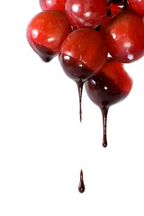 drip (on2boy) Tags: lighting food fruits olympus drip grapes syrup onwhite evolt e500 cebusugbo flickrsbest chocolare on2boy betterthangood fruitdiet