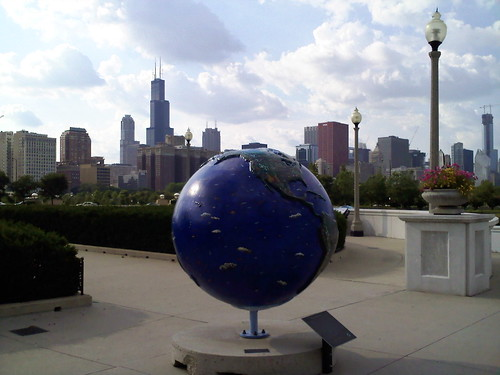 Globe with Chicago Skyline