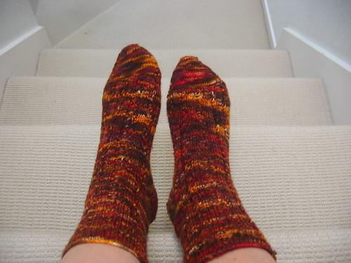 Fall Fire Socks