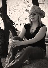 Jennifer (>Shannon<) Tags: portrait woman baby beautiful hat minnesota sepia mom happy women unitedstates sweet country pregnancy pregnant belly maternity n80 cowboyhat whiteearthreservation waubun