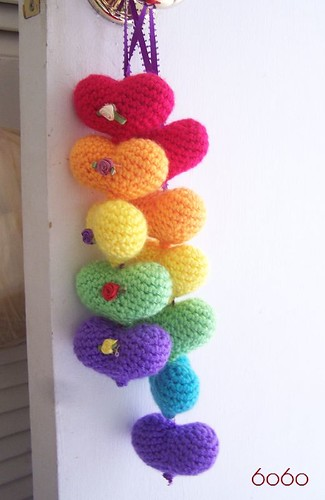 Rainbow Hearts decor