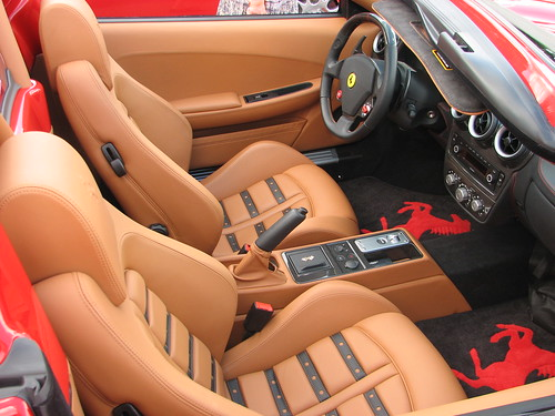 Red horses on the floor mats