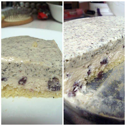 Black sesame n azuki cheesecake