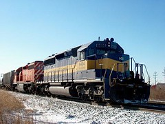 Northbound Iowa, Chicago & Eastern transfer train at Hawthorne Junction. Chicago / Cicero Illinois. January 2007.