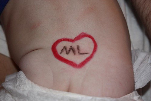 Maddie has a tramp stamp for Matt Lauer