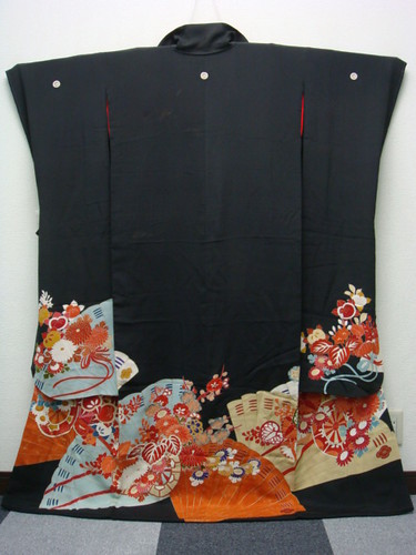 Antique black Taisho furisode 2