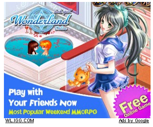 Wonderland MMORPG - Two teens naked in bath