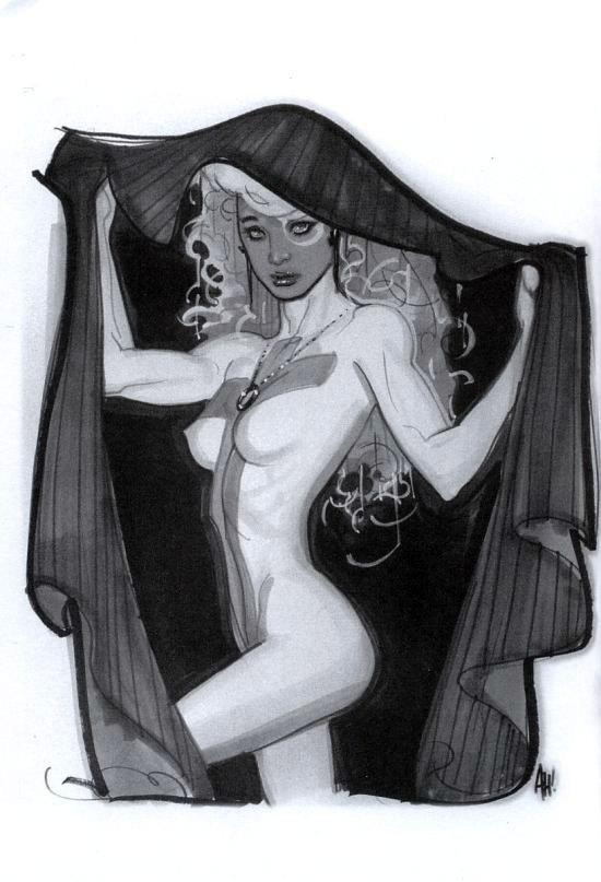Puñal con capa (Adam Hughes Sketchbook, 2008)